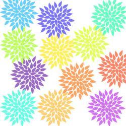 Floral clipart starburst