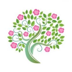 Floral clipart tree