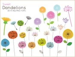 Dandelion clipart cute flower