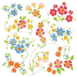 Floral clipart whimsical