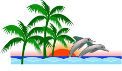 Dolphines clipart nature scene