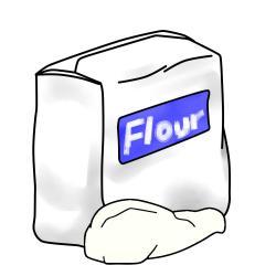 Flour clipart plain