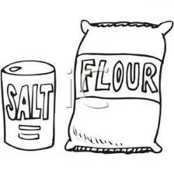Flour clipart salt