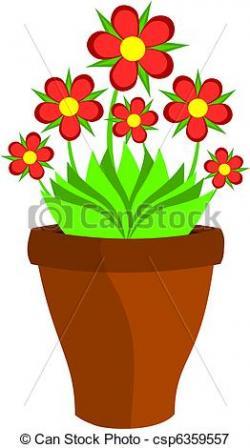 Flowerpots clipart different flower
