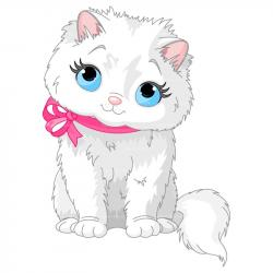 KITTENS clipart fluffy cat