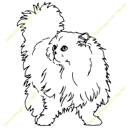 Persian clipart fluffy cat