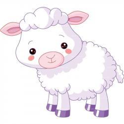 Cute clipart baby lamb