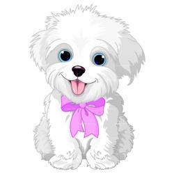 Maltese clipart happy puppy
