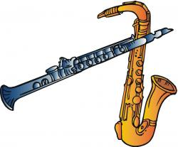 Saxophone clipart band instrument
