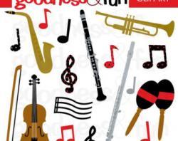 Musician clipart instrumental music