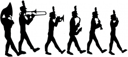 Saxophone clipart marching band