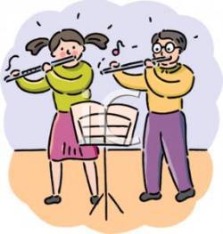Flute clipart music classroom