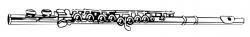 Flute clipart outline