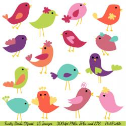 Folk clipart bird