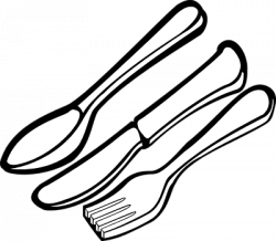 Cutlery clipart black and white