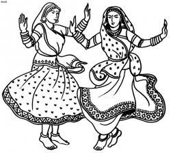 Dancing clipart nepali