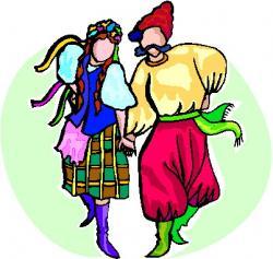 Folk clipart cultural dance