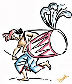 Goddess clipart dhaki