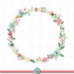 Vintage Flower clipart floral garland