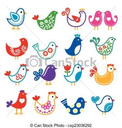 Folk clipart folk art