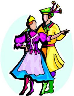 Folk clipart folk dancing