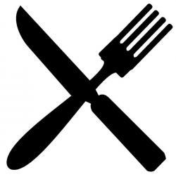 Khife clipart black fork