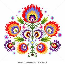 Folk clipart mexican embroidery