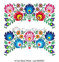 Folk clipart paper flower
