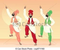 Folk clipart punjabi culture
