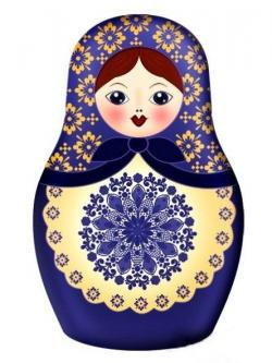 Folk clipart russian doll