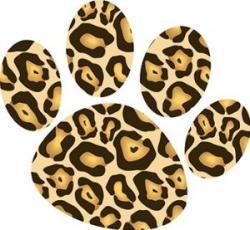 Cheetah clipart paw