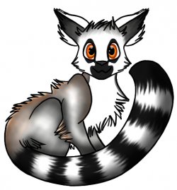 Lemur clipart cute