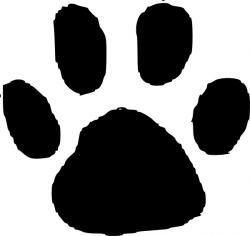 Cheetah clipart paw print