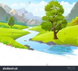 Sream clipart hill mountain