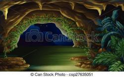 Cave clipart dark cave