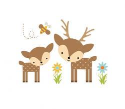 Deer clipart woodland deer