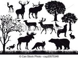 Wildlife clipart black and white