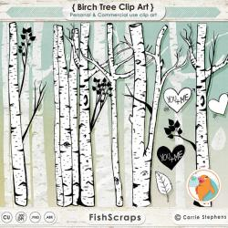 Birch clipart white birch tree