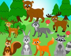 Fox clipart forest wildlife