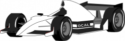 Formula One clipart black and white