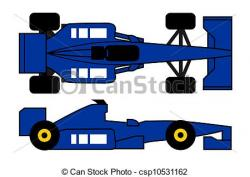 Formula One clipart blue