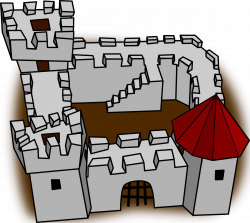 Fortress clipart cartoon