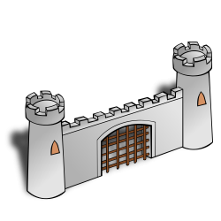 Fortress clipart castle gate
