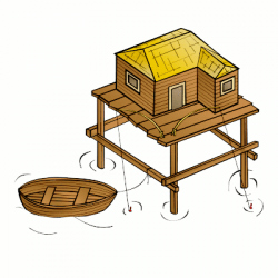 Fort clipart stilt house