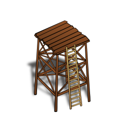 Watchtower clipart wood