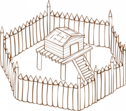 Fort clipart wood