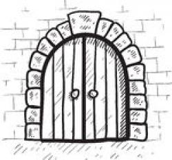 Fortress clipart castle door