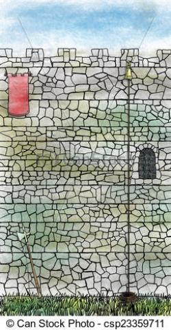 Fortress clipart stone wall