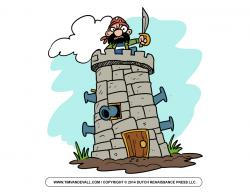 Fortress clipart tower