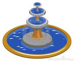 Fountain clipart blue water